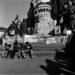 meeting at the Matthias Corvinus statue