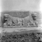 tombstone, lions