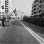 honouring, flag