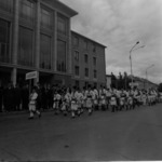 School festivals 1972-1973, folk dance on the street