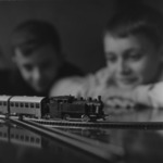Luţu and Trăienel with the train