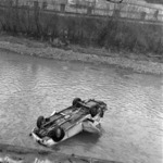 car in the Someş river