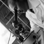 Botanical garden, Micle at the microscope