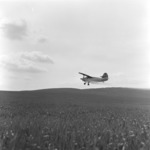 agriculture, with the plane over the wheat field